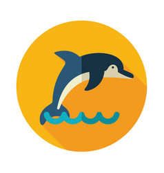 Dolphin icon summer vacation vector
