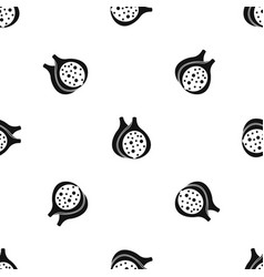 fig fruit pattern seamless black vector image