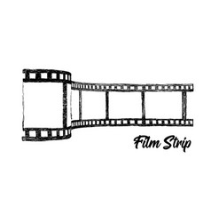 film strip hand drawn 3d vector image