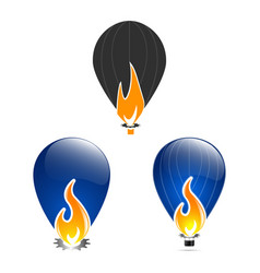fire flame design template vector image