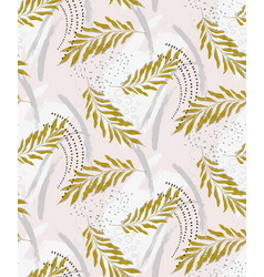 foliage tropical jungle seamless palm leaves vector image