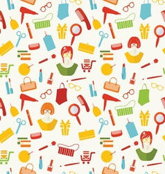 girls stuff pattern resize vector image
