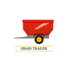 Grain trailer wheel container vector