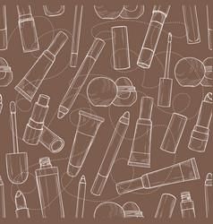 hand drawn lip gloss vector image