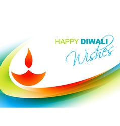 Happy diwali greeting vector