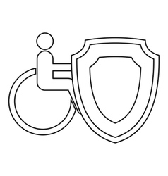 Insurance disabled concept icon outline style vector