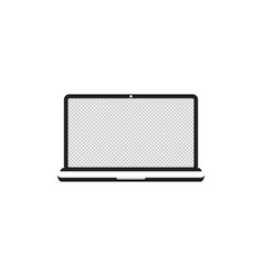 Laptop with transparent screen notebook white vector