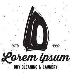 Laundry logo emblem design element vector