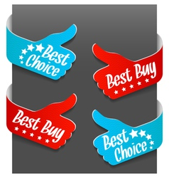 left and right side signs - best buy vector image