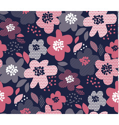 luxury floral seamless pattern vector image