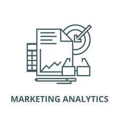marketing analytics line icon linear vector image