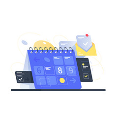Modern calendar with task management and mail app vector