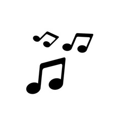 Music icon sound symbol in flat style vector