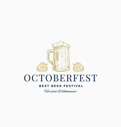 octoberfest best beer festival abstract vector image