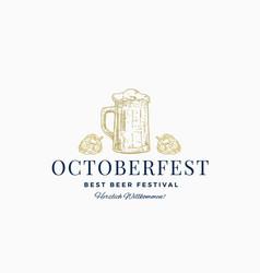 oktoberfest best beer festival abstract vector image