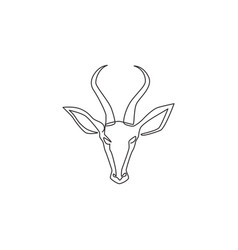 one continuous line drawing adorable antelope vector image