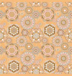 pattern with oriental decor vector image