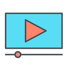 playing video line icon vector image