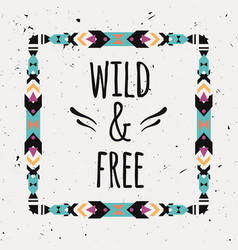poster with tribal graphic design elements boho vector image