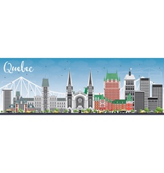 Quebec Skyline with Gray Buildings vector