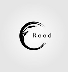 reed river grass letter c initial logo design vector image