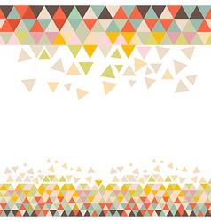 Retro triangle background vector