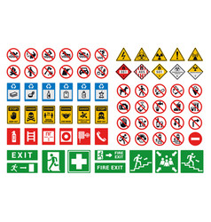 safety sign factory and construction health vector image