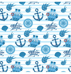 sea pattern in flat style vector image