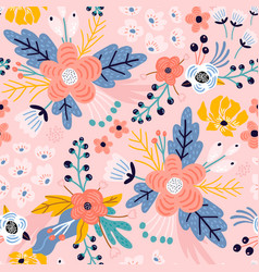 Seamless floral pattern creative flower texture vector