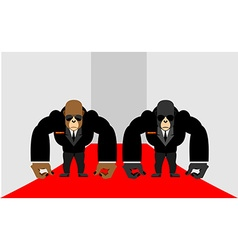 Security Guards of a gorilla Big Bodyguards vector image