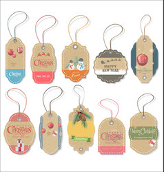 Set of christmas gift tags vector