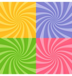 set swirly sunbursts vector image