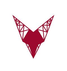 sign letter v vector image