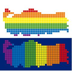 spectrum pixel dotted turkey map vector image