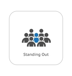 Standing Out Icon Business Concept Flat Design vector
