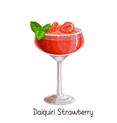 Strawberry daiquiri cocktai vector