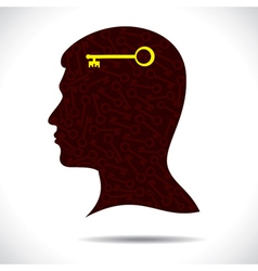 success key in human head vector image