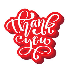 thank you hand drawn text trendy hand lettering vector image