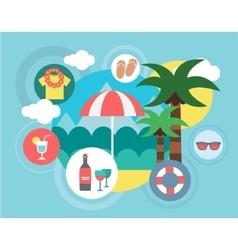 Travel on the Island Umbrella vector image