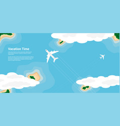 Vacation time concept vector
