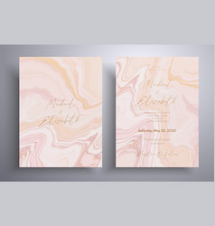 wedding invitation with with swirling paint vector image