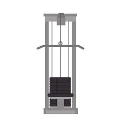 Weights gym equipment vector
