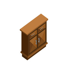 wood cabinet drawer isometric furniture design vector image
