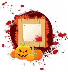 wood pumpkin vector image
