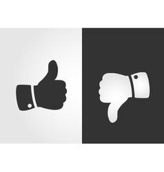 Like and dislike icon flat design vector image