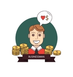 Successful businessman with money vector image vector image