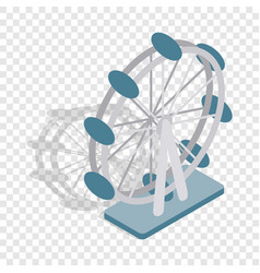 ferris wheel isometric icon vector image