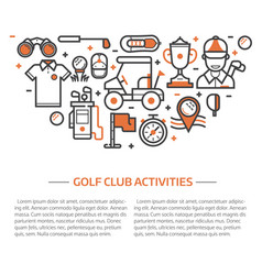 golf club banner or header template vector image