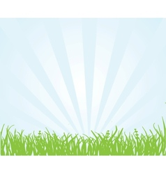 green field and blue sky vector image vector image