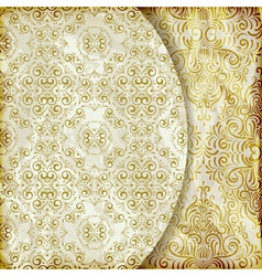 retro background with vintage floral patterns vector image vector image